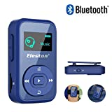 Eleston 8GB Clip Bluetooth Portable MP3 Music Player with HIFI music,Recording and Expandable Micro SD Card(Up to 64G) for Sport Running Blue (Color: Blue)