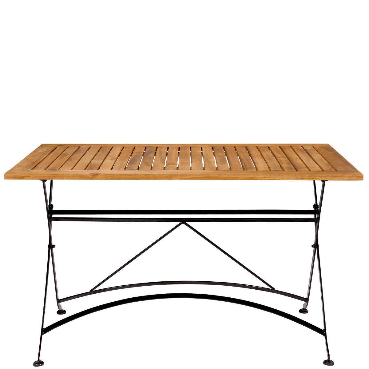 BUTLERS PARKLIFE Tisch braun/schwarz