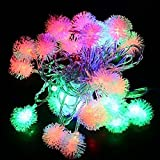 Accmor Indoor and Outdoor Led String Lights - Bedroom or Xmas 33ft 100 Ball-Decorations with 8 Modes - Perfect for Mother's Day -- Chuzzle in Four Colors (Red - Green - Blue - Orange)