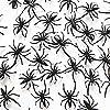 """1 1/2"""" Plastic Spiders"""
