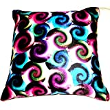 Aaiye Ghar Sajaiye Paper Satin Cushion Cover With Digital- Set Of 5, Multi _(16 X 16 Inch)