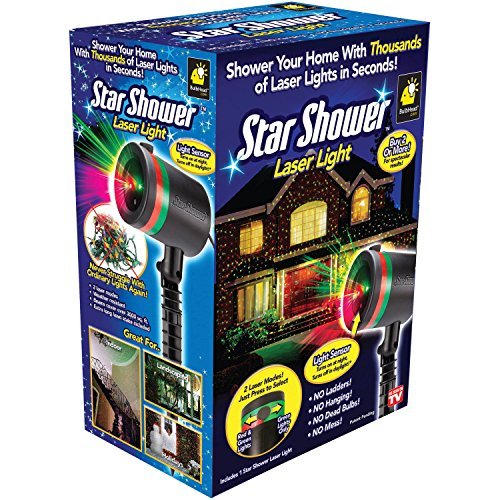Star Shower Outdoor Laser Christmas Lights, Star Projector by BulbHead