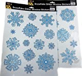 Christmas Glitter Window Stickers - Snowflake