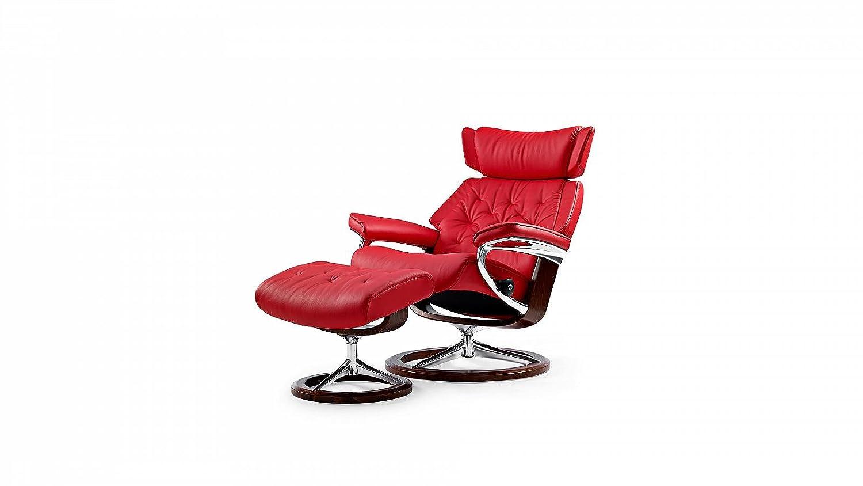 Stressless® Skyline Sessel mit Hocker (M) Rot günstig jetzt kaufen