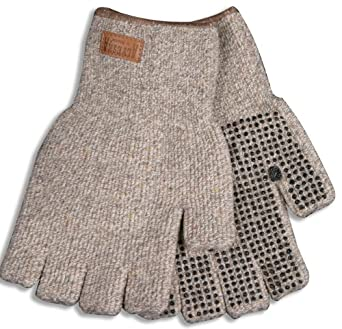 Kinco 5132 Alyeska Ragg Wool Unlined Half Finger Glove with PVC Dots, Work, X-Large, Tan (Pack of 6 Pairs)