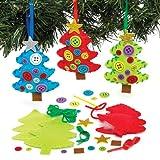 クリスマスツリー フェルト 手作りオーナメントキット(3個入り) 子供のたちの簡単な手芸やディスプレイに
