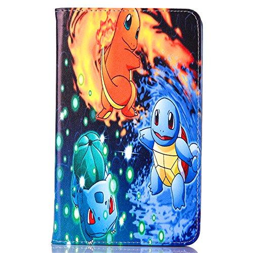 Samsung Galaxy Tab A 7.0 2016 Case, Phenix-Color Pokemon Go Cartoon Cute Premium Flip Stand PU Leather Shell Case for Samsung galaxy Tab A 7.0 inch 2016 SM-T280 SM-T285 Tablet (#02)