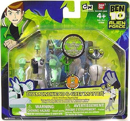 Ben 10 - 27554 - Alien Force - Figurines Chambre de Creation - Incassable & Tétard Gris