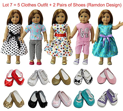 zita-element-doll-clothes-lot-75-daily-costumes-gown-clothes-2-shoes-fit-for-americans-girl-doll-and