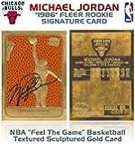 Michael Jordan Fleer Rookie Feel the Game Gold Sig Card