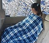 冬場のドライブ対策に あったかぽかぽか 車載電気毛布 カーブランケット DC12V 150×105(cm) (チェック)