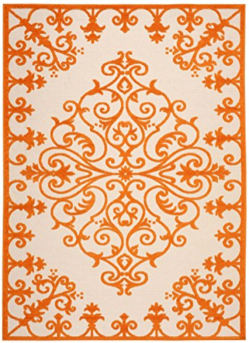 Nourison Aloha 12 Orange Area Rug (Size: 7'10