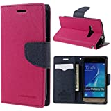 Samsung Galaxy J3 / Samsung Galaxy J3 Pro Flip Cover Luxury Mercury Wallet Card Dairy Slot Style Flip Cover Compatible For Samsung Galaxy J3 / Samsung Galaxy J3 Pro (Pink Blue)