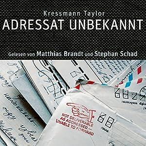 Adressat unbekannt Hörbuch
