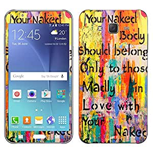 Theskinmantra Naked Soul Samsung Galaxy J7 mobile skin