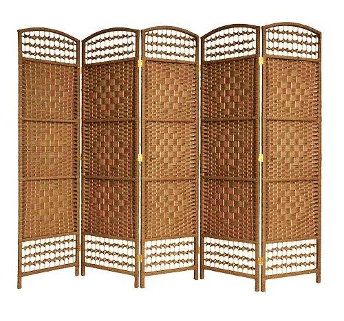 ENTWINE Brown Handmade 5 Pane Room Divider / Splitter Screens