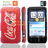 htc EVO 3Dケース shiny decoration Case (au ISW12HT対応)【ハンドメイド/デコ電】【Coca Cola RED(赤)】