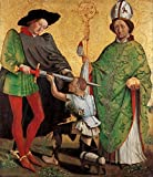 Oil Painting 'Master Of Uttenheim - St Martin Of Tours And St Nicholas Of Bari' Printing On High Quality Polyster Canvas Print , 12 X 14 Inches / 30 X 35 Cm ,the Best Gym Gallery Art And Home Gallery