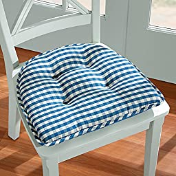 Gingham Gripper Chair Pad - Red