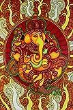 Retcomm Solutions Lord Ganesha Ganpati Classic Mural Canvas Frame Painting (91.44 cm x 0.12 cm x 60.96 cm)