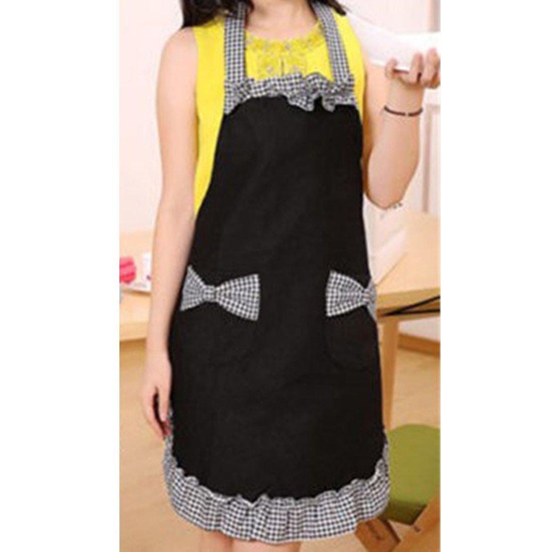 New 2016 Cute Bib Apron Dress Flirty Vintage Kitchen Women Bowknot With Pocket Gift 1
