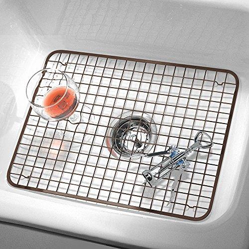 interdesign kitchen sink protector grid mat large