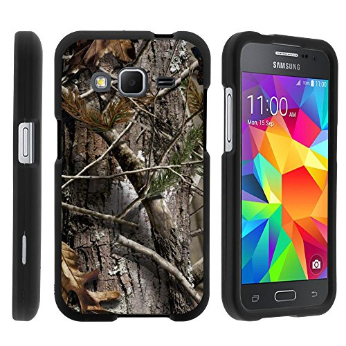Samsung Core Prime Case - Full Body Armor Snap On Hard Case Protector Cover with Customized Design for Samsung Galaxy Core Prime G360 Boost Mobile from MINITURTLE Includes Clear Screen Protector and Stylus Pen - Tree Bark Hunter Camouflage
