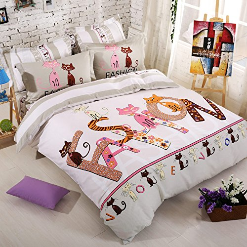 Cat bedding for people for Parure housse de couette ikea