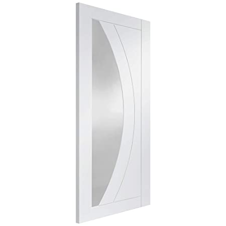 XL Joinery Internal White Primed Salerno Door with Clear Glass 2032x813x35mm (80''x32'')