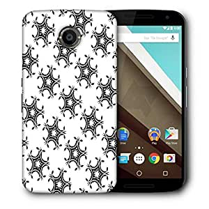 Snoogg Star Pattern Grey Printed Protective Phone Back Case Cover For LG Google Nexus 6