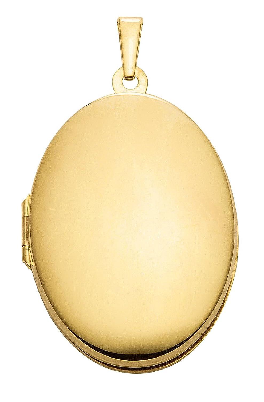 Damen Schmuck Gold Medaillon / Medallion oval aus 585 Gelb Gold ( 20,5 x 26,8 mm ) günstig online kaufen
