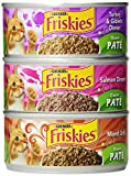 Friskies Cat Food Classic Pate, 3 Flavor Variety Pack (Salmon, Mixed Grill, Turkey & Giblets), 5.5-Ounce Cans (Pack of 24)
