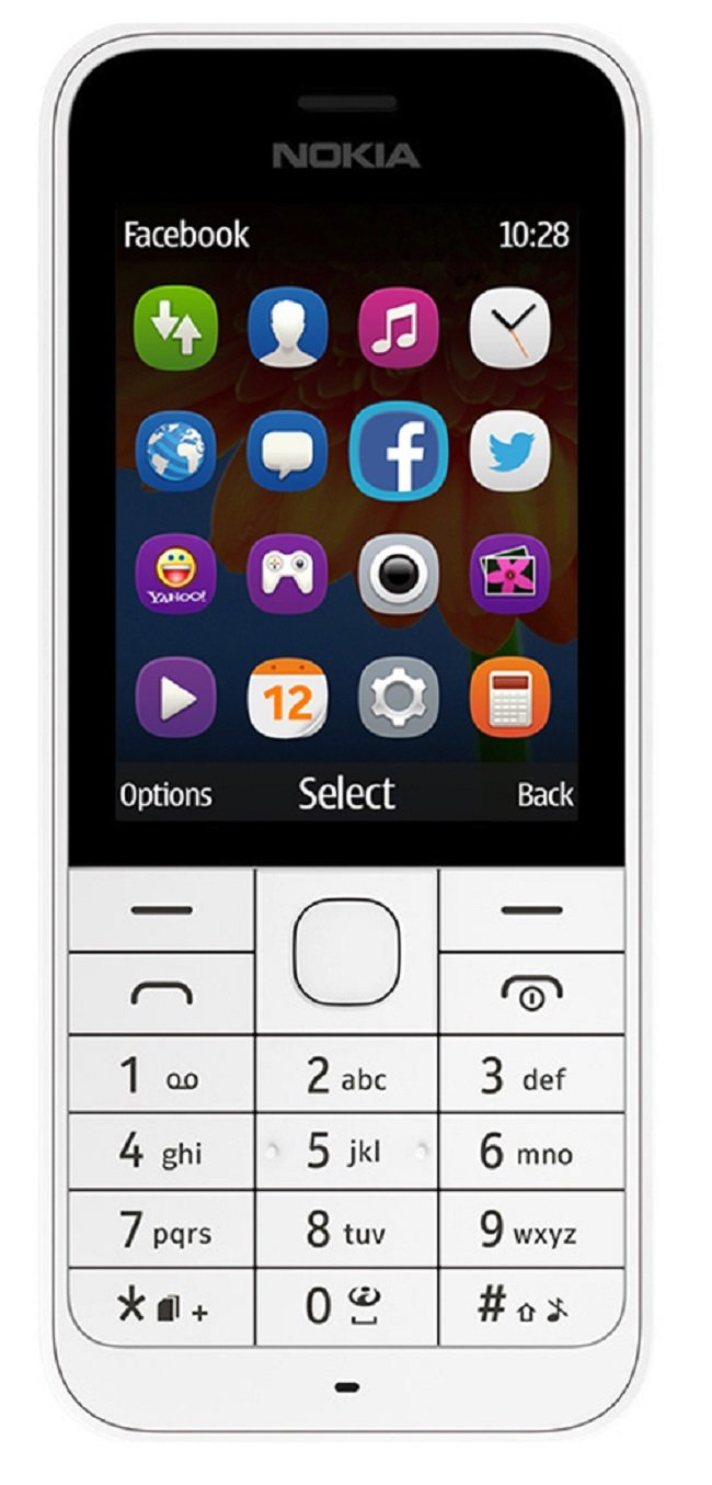Nokia-220-RM-971-Unlocked-GSM-850-1900-Cell-Phone-w-2MP-Camera-White