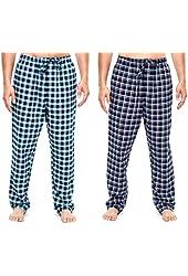 Noble Mount Men's Cotton Flannel Lounge Pants (2 Pack)