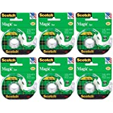 Scotch 3M 122 Magic Tape, 3/4 x 650 Inches (Pack of 6)