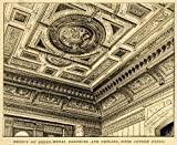 1889 Print Bakewell & Mullins Sheet Metal Ceiling Cornice Salem OH Architecture - Original Halftone Print