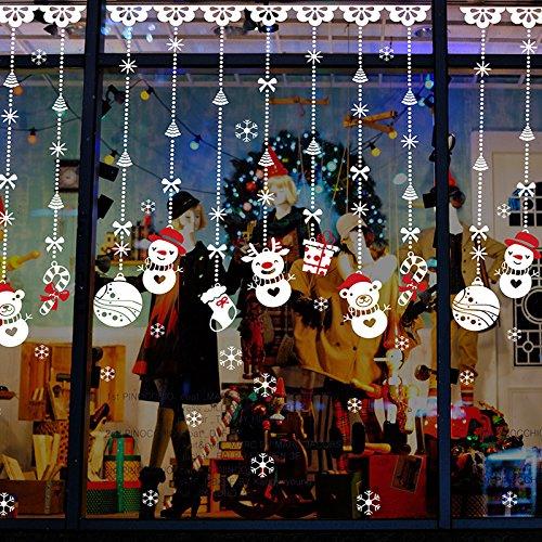 adesivi natalizi per vetrine � strange things