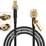 Lsgoodcare 10M Black RP-SMA Male to Female Wifi Antenna Connector Extension Cable (Color: 10m)