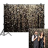Allenjoy 7x5ft Gold Bokeh Spots Backdrop for Selfie Birthday Party Pictures Photo Booth Shoot Graduation Prom Dance Decor Wedding Vintage Abstract Glitter Dot Studio Props Photography Background (Color: bokeh gold, Tamaño: 7'x5' Durable Fabric)