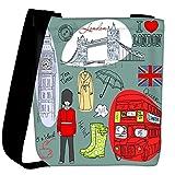 Snoogg london doodles Womens Carry Around Cross Body Tote Handbag Sling Bags