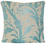 Floral Design Decorative Pillow Case Blue Pattern Cushion Cover Osborne and Little Fabric Byron