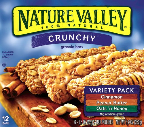 Nature Valley Crunchy Granola Bars, Variety Pack of Cinnamon, Oats 'n ...