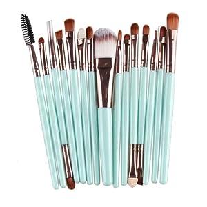 Makeup Brush Set,Neartime 15 pcs Make Up Brush Set Beauty Tools Toiletry Kit Wool