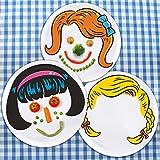 Dinner Do's Kids Dinnerware Plates Food Faces-Set of 3-Girl's Style