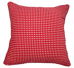 22x22 Throw Pillow Covers : Amazon.com - 22x22 Red Gingham Cotton Decorative Throw Pillow Cover