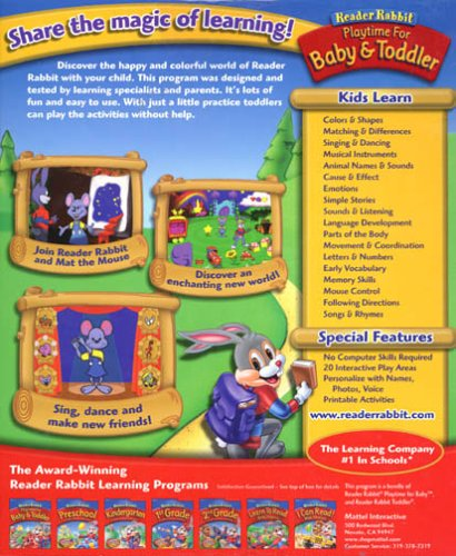 Reader Rabbit Playtime for Baby and Toddler PC Computer ...
