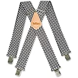 CHECKERS BLACK/WHITE WORK FASHION BRACES 2