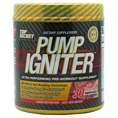 Top Secret Nutrition Nutrition Pump Igniter Red Raspberry -- 30 Servings