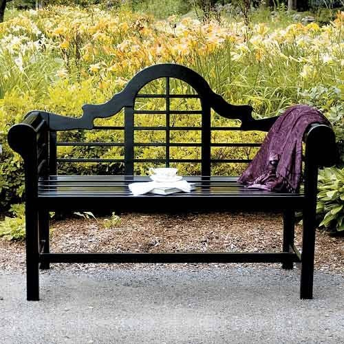Achla Designs Lutyens 4-Foot Bench, Black