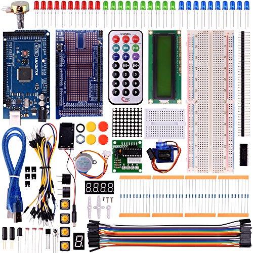 Kuman K21 Mega 2560 Project The Most Complete Ultimate Starter Kit w/ TUTORIAL, MEGA 2560 controller board, LCD1602, Servo, Stepper Motor for Arduino Mega2560 UNO Nano (Arduino Raspberry Pie compare prices)